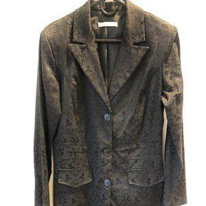 CHARLOTTE RUSSE longline black paisley blazer